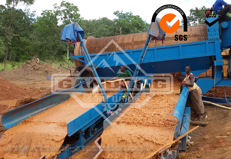 100TPH Placer gold recovery plant in Guinea